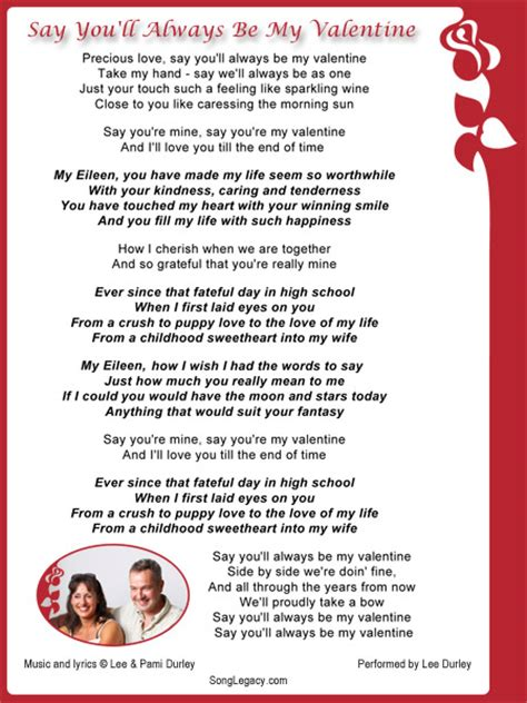 valentines songs lyrics lyric sheet and cd cover ls m border with