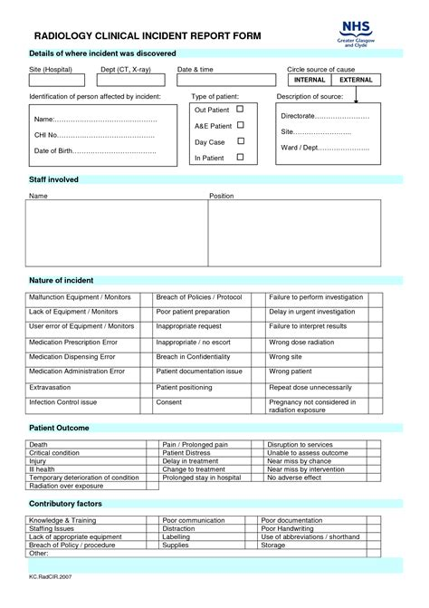 best photos of hospital incident report form template