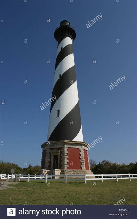 Outer Black Cape black and white spiral stripes of cape hatteras lighthouse