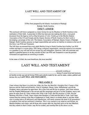 Bill Of Sale Form North Carolina Last Will And Testament Form Templates Fillable Printable Nc Last Will And Testament Template