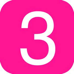 pink rounded square with number 3 clip art at clker     vector clip art online royalty free