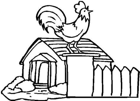 coloring page chicken coop chicken coop netart