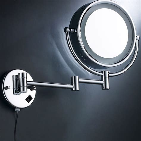 bathroom magnifying mirror with light 8 5 inch side makeup magnifying bathroom mirror