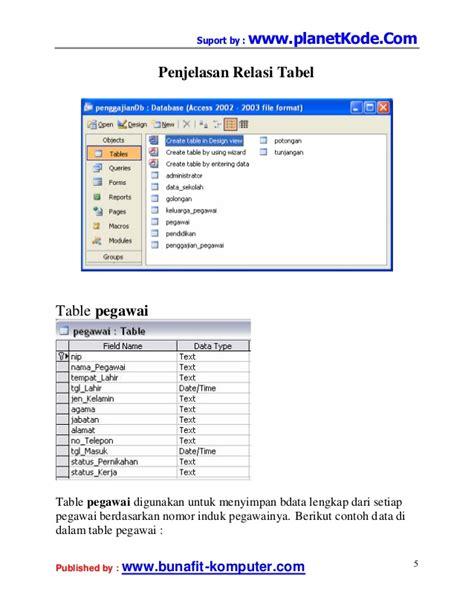analisis desain database contoh erd penggajian kabar click