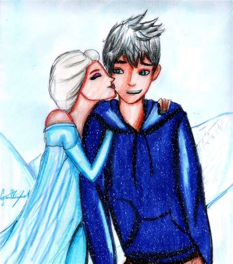 imagenes de jack frost y elsa de frozen elsa and jack frost by guillermoantil on deviantart