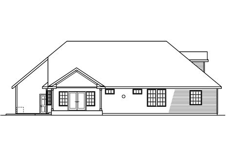 3 bedroom house plan elevation classic house plans remmington 30 460 associated designs