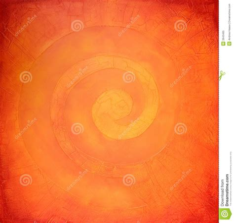 painting colouring spiral painting in warm colors stock illustration image