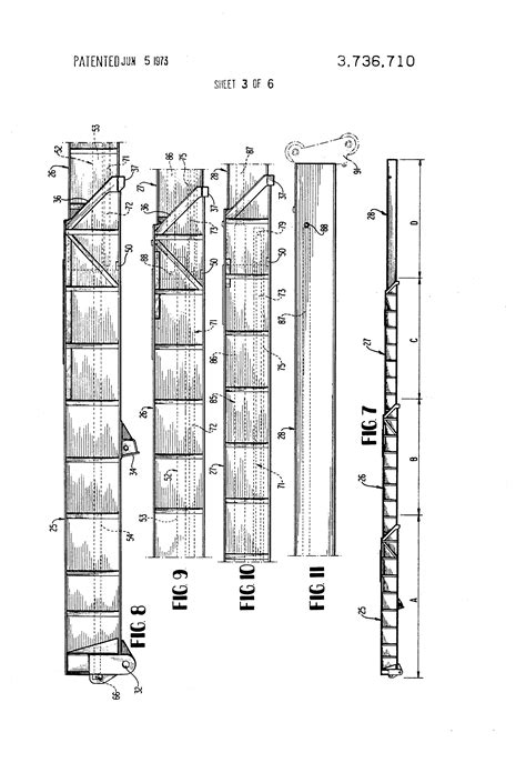 patent sections patent us3736710 four section fully hydraulically