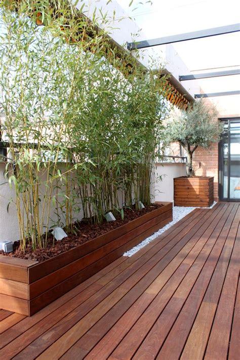 Bac Bambou Terrasse by Brise Vue Bambou Et Cl 244 Ture Pour Plus D Intimit 233 Dans Le