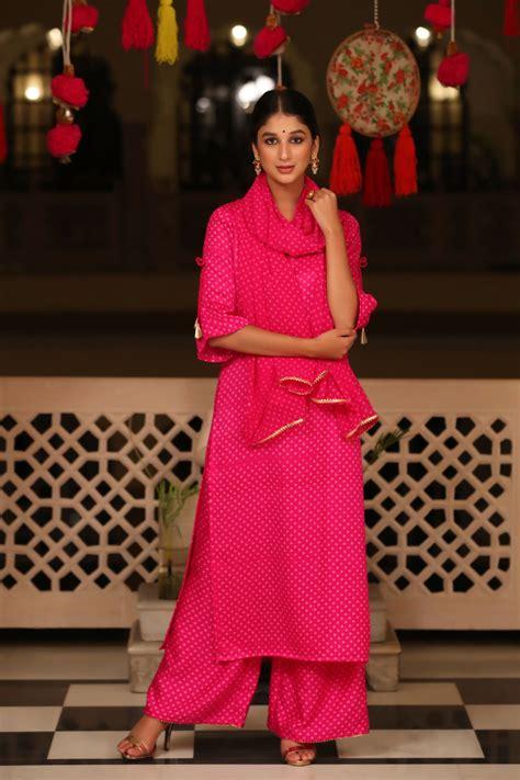 hot pink satin suit set