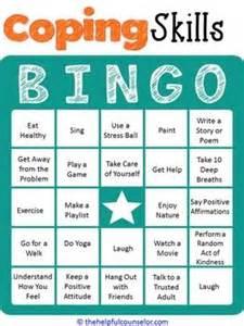 coping skills bingo game | pinterest | summer wear, mental