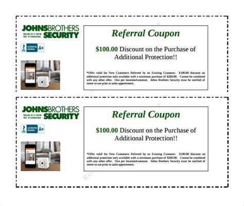 18 referral coupon templates free sle exle