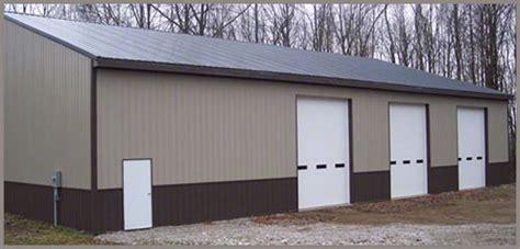 aluminum pole barn metal pole barns