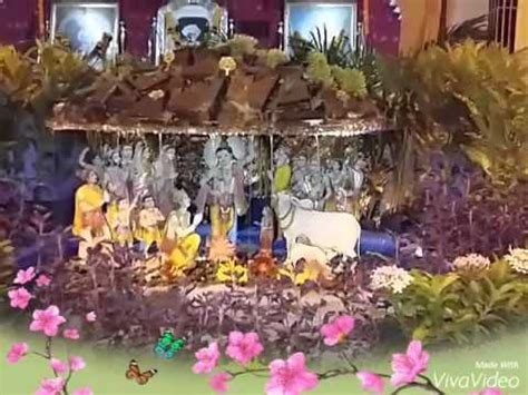 janmashtami home decoration janmashtami decoration by jalaram yuvak mandal youtube