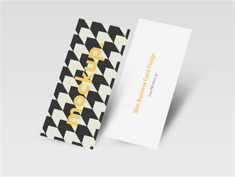 Stylish Business Card Template Psd by Free Slim Stylish Business Card Psd Template Titanui