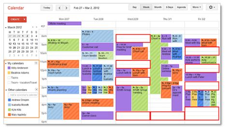 Calendar Only Certain Events Self Tracking My Schedule Hastac