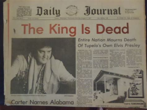 the king is dead the last will and testament of henry viii books elvis pressley august 171977 newspaper tupelo mississippi
