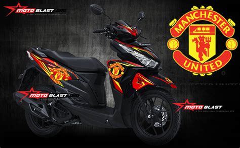 Sticker Aerox 155 Fullbody Manchester United 1 vario 150 black matte mu2 motoblast