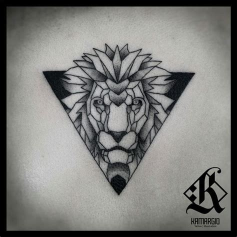 geometric animal tattoo designs lion geometric animal geometry tattoo pinterest