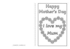mothers day cards template office s day card colouring templates sb4359