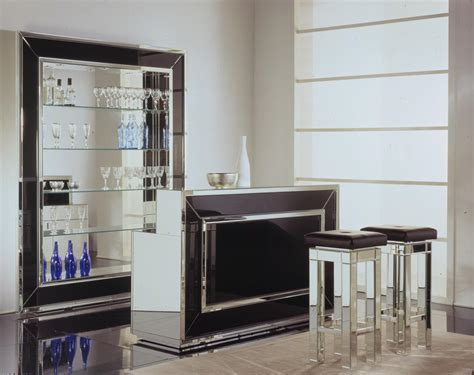 Home Bars Home Bar Venetian Luxury Glass Home Bar Bars Furniture Modern