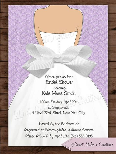 wedding shower invitations print at home bridal shower invitation lace bow design