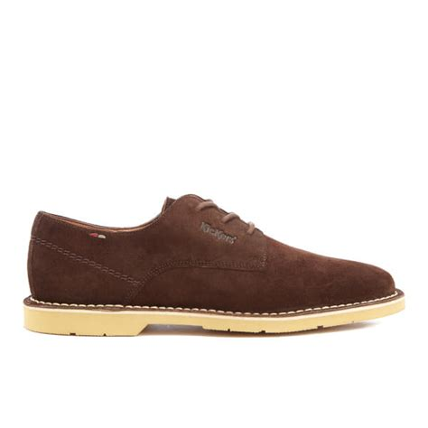 Kickers Boots Limited Edition 611 Brown kickers s kanning lace up shoes brown mens footwear zavvi