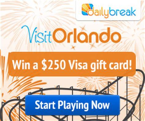 75 Dollar Visa Gift Card - enter a chance to win 250 visa gift card from visit orlando