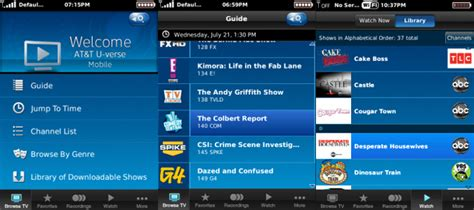 att uverse apps for android at t launches u verse tv app for android blackberry 9300