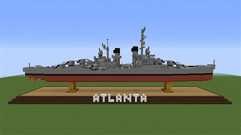 ss atlanta uss atlanta cruiser minecraft project