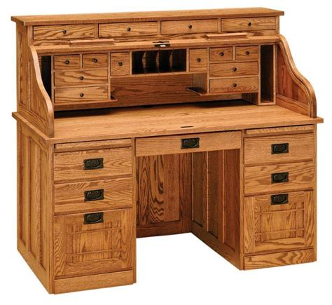 different types of desks amish mission roll top desk