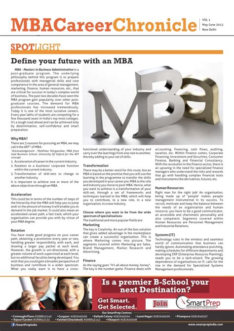 Mba Career Link by Smartprep Mba Career Chronicle