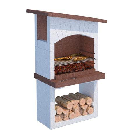 barbecue a legna da giardino prezzi offerta barbecue gran canaria 81x58xh185cm