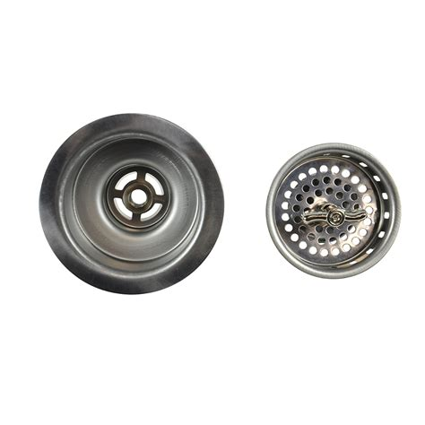 Kitchen Sink Assembly 3 1 2 In Twist Tight Kitchen Sink Strainer Assembly In Stainless Steel Danco