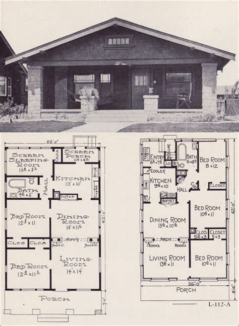 bungalow house plans 1920s 1920s house plans by the ew stillwell co small economical bungalow cottage no