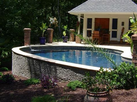 sloped backyard pool 200 best images about pools on pinterest small yards