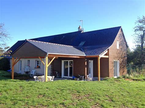 Extension Terrasse Couverte by Derouet Constructeur De Maison Bois En Mayenne 53
