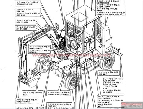 backhoe parts diagram yanmar wheel backhoe model yb401w and yb401w 2 parts