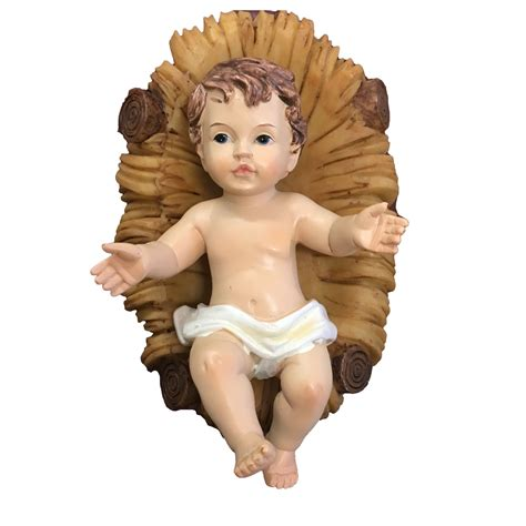 baby jesus manger 4 1 2 quot resin baby jesus and manger family catholic