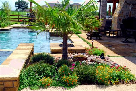 swimming pool landscaping ideas landscaping with rocks and palm swimming pool and landscaping construction and repair