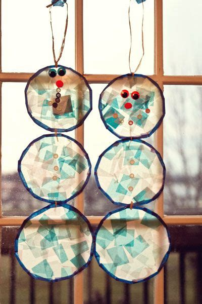 Winter Paper Craft - winter crafts for winter craft and stained glass on