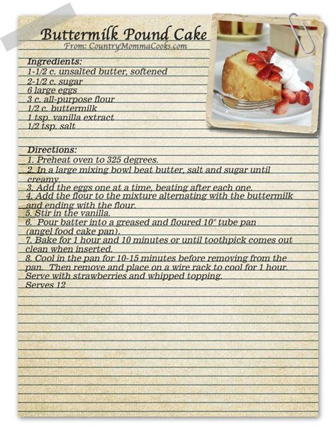 printable recipes using buttermilk buttermilk pound cake vintage recipe vintage recipes