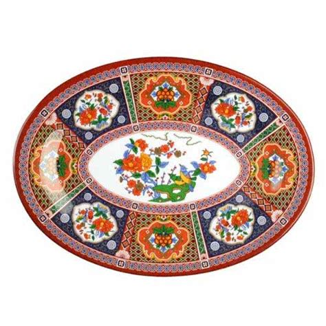 Peacock Melamine Tray It Or It by Thunder 2014tp Peacock 14 Quot X 10 Quot Oval Melamine