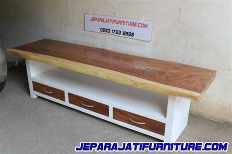 Meja Tv Furniture buffet meja tv cabinet kayu trembesi jepara jati furniture