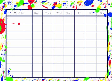 printable calendar chart printable blank charts that sounds like work it is work