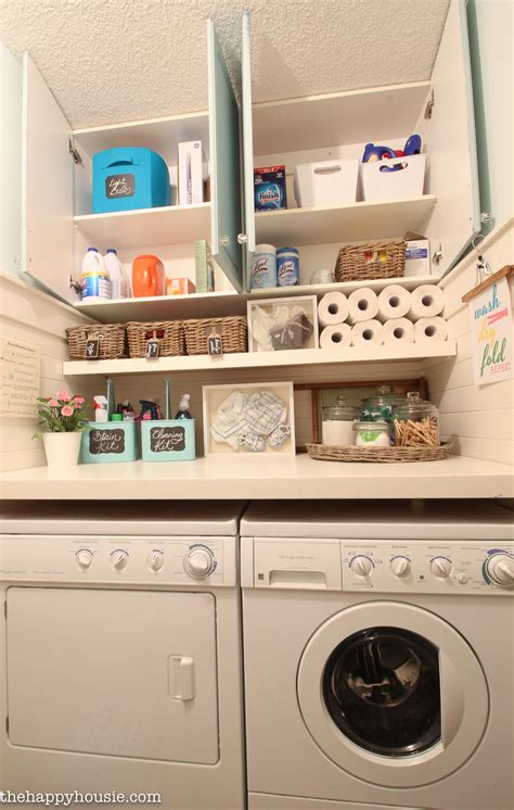 How To Completely Organize Your Laundry Room In Three Easy Organizing Laundry Room Cabinets