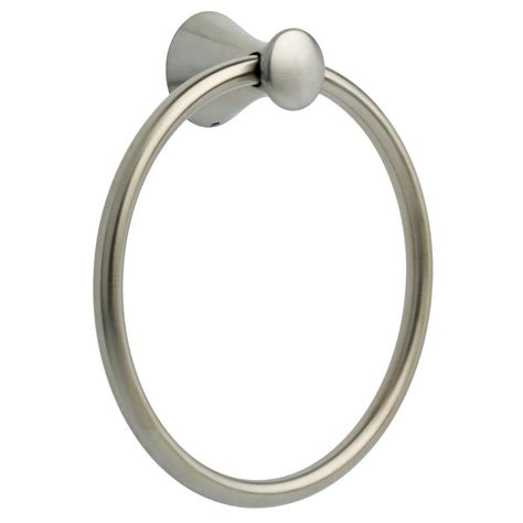 delta lahara towel ring in brilliance stainless 73846 ss