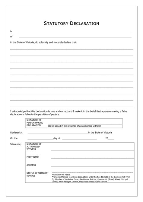 statutory declaration template statutory declaration form canada in word and pdf formats