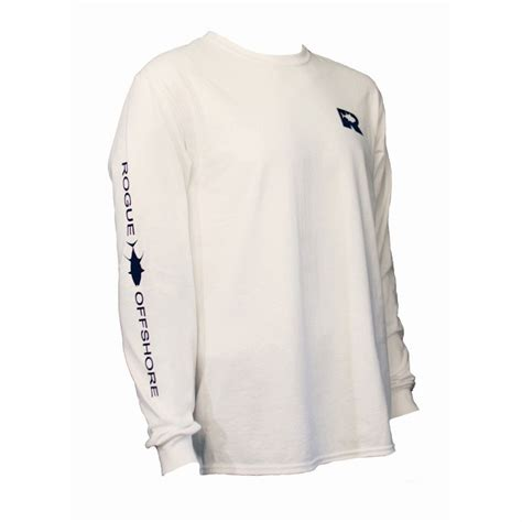 Navy Sleeve White rogue offshore tuna logo sleeve t shirt white navy tackledirect