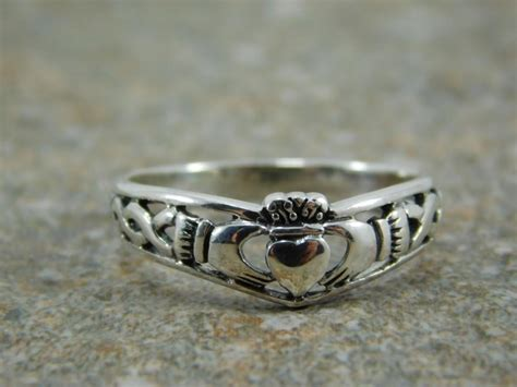 free engraving mens sterling silver 925 claddagh ring